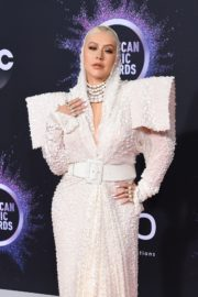 Christina Aguilera attends 2019 American Music Awards at Microsoft Theater in Los Angeles 2019/11/24 13