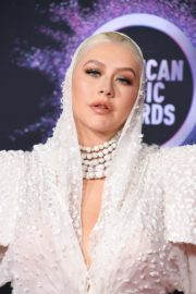 Christina Aguilera attends 2019 American Music Awards at Microsoft Theater in Los Angeles 2019/11/24 21