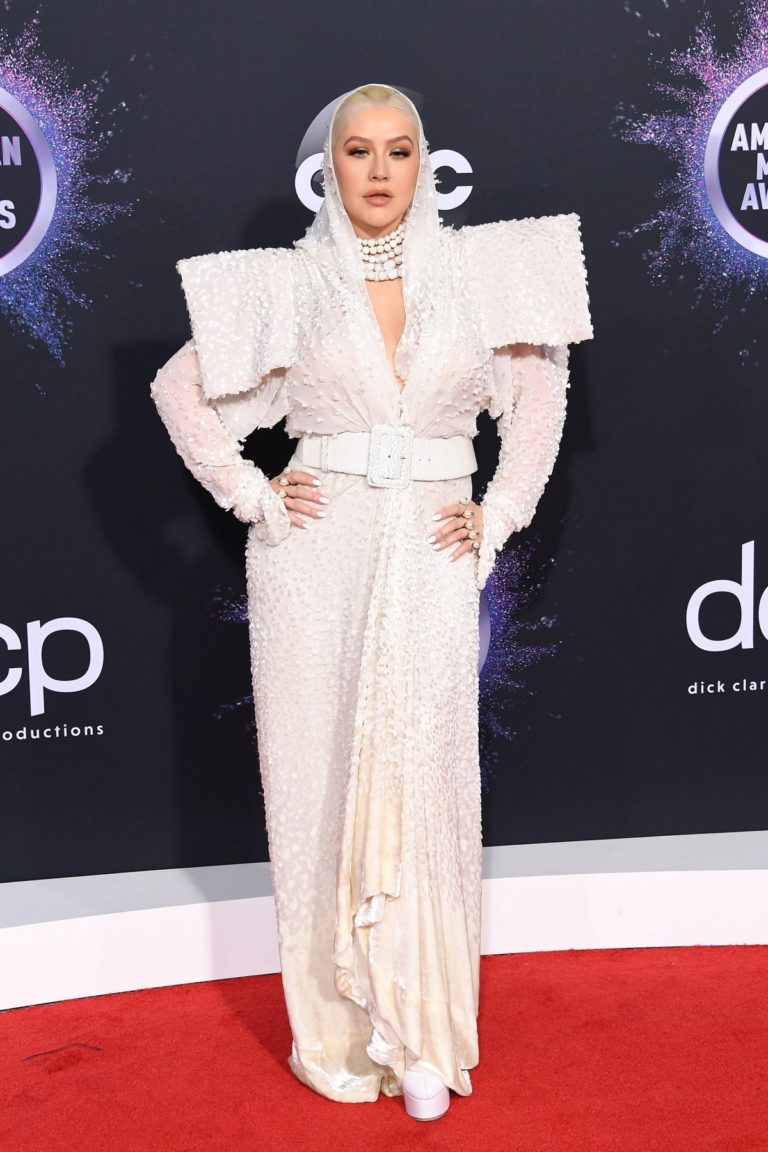 Christina Aguilera attends 2019 American Music Awards at Microsoft Theater in Los Angeles 2019/11/24 23