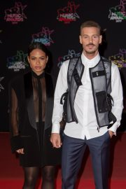 Christina Milian and Matt Pokora attends 21st NRJ Music Awards in Cannes, France 2019/11/09 10