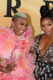 Cynthia Erivo and Janelle Monae attends Premiere of 'Harriet' at Orpheum Theatre in Los Angeles 2019/10/29 1