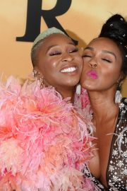 Cynthia Erivo and Janelle Monae attends Premiere of 'Harriet' at Orpheum Theatre in Los Angeles 2019/10/29 2