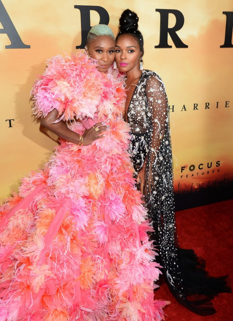 Cynthia Erivo and Janelle Monae attends Premiere of 'Harriet' at Orpheum Theatre in Los Angeles 2019/10/29 6