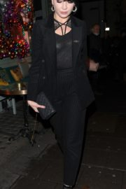 Daisy Lowe Leaves Sexy Fish Restaurant in London 2019/11/28 4