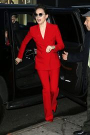 Daisy Ridley in red outfit arrives Good Morning America in New York City 2019/11/26 14