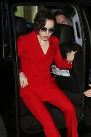 Daisy Ridley in red outfit arrives Good Morning America in New York City 2019/11/26 17