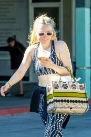 Dakota Fanning leaves after an exercise class in Los Angeles 2019/11/09 2