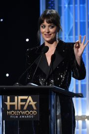 Dakota Johnson on Stage at 23rd Annual Hollywood Film Awards in Los Angeles 2019/11/03 2