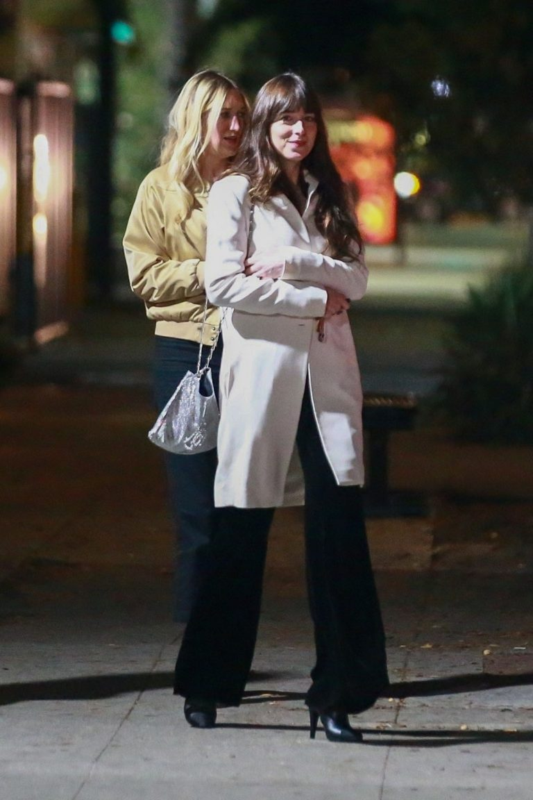 Dakota Johnson with Her Friends out for Dinner in Los Feliz 2019/11/23 1
