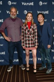 Dan Harmon, Gillian Jacobs, and Ken Jeong at Vulture Festival in Hollywood 2019/11/10 1