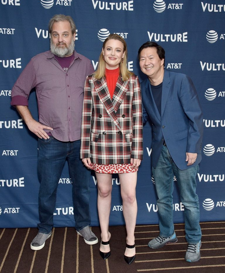 Dan Harmon, Gillian Jacobs, and Ken Jeong at Vulture Festival in Hollywood 2019/11/10 7