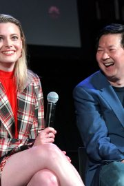 Dan Harmon, Gillian Jacobs, and Ken Jeong at Vulture Festival in Hollywood 2019/11/10 8
