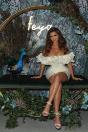 Demi Rose flaunts her hourglass figure in mini bodycon dress as she make her appearance in Feya Cafe launch 1