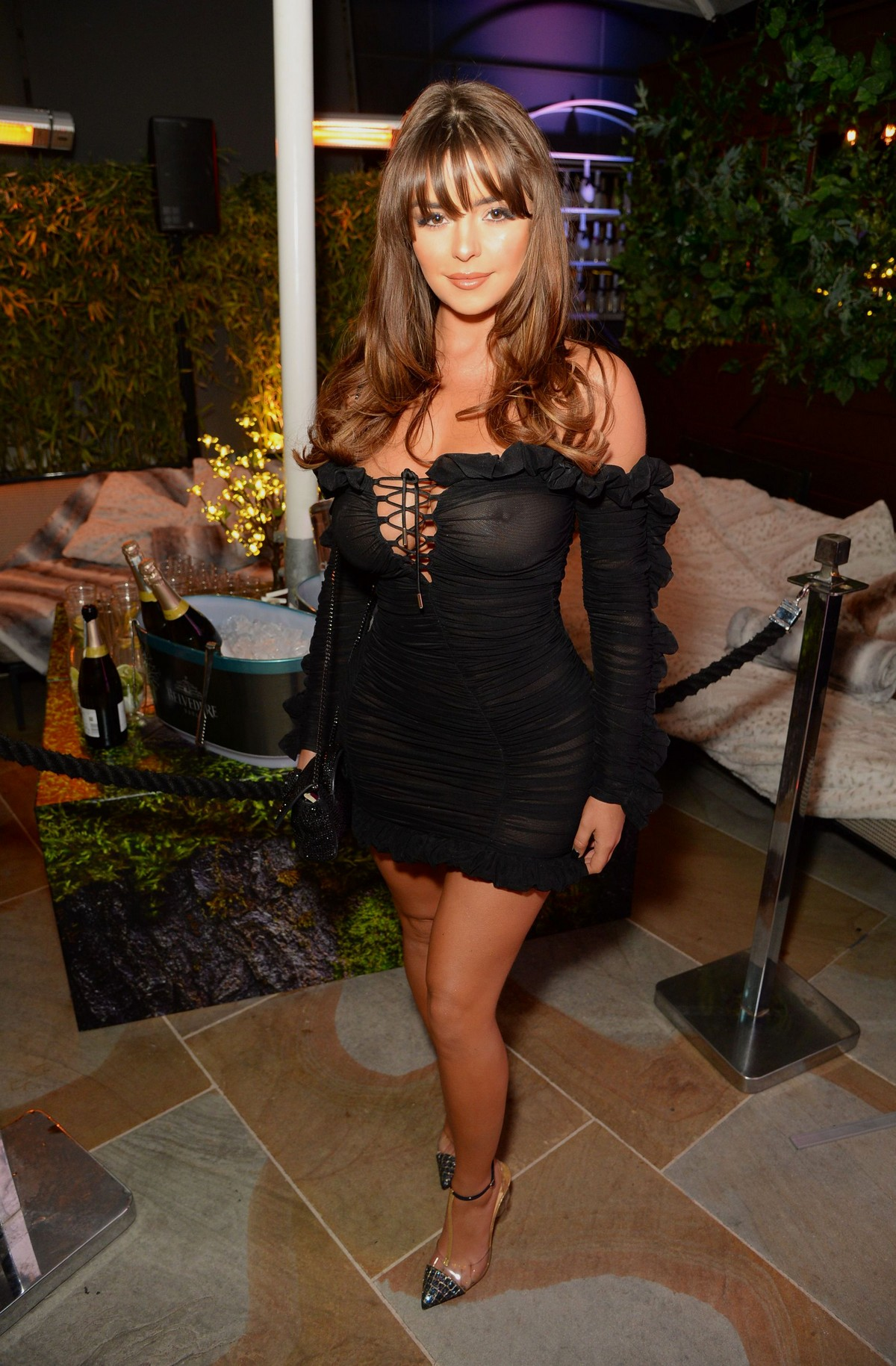 Demi Rose Mawby at The Skinny Tan Choc Range launch party in Madison, London 2019/11/19 1