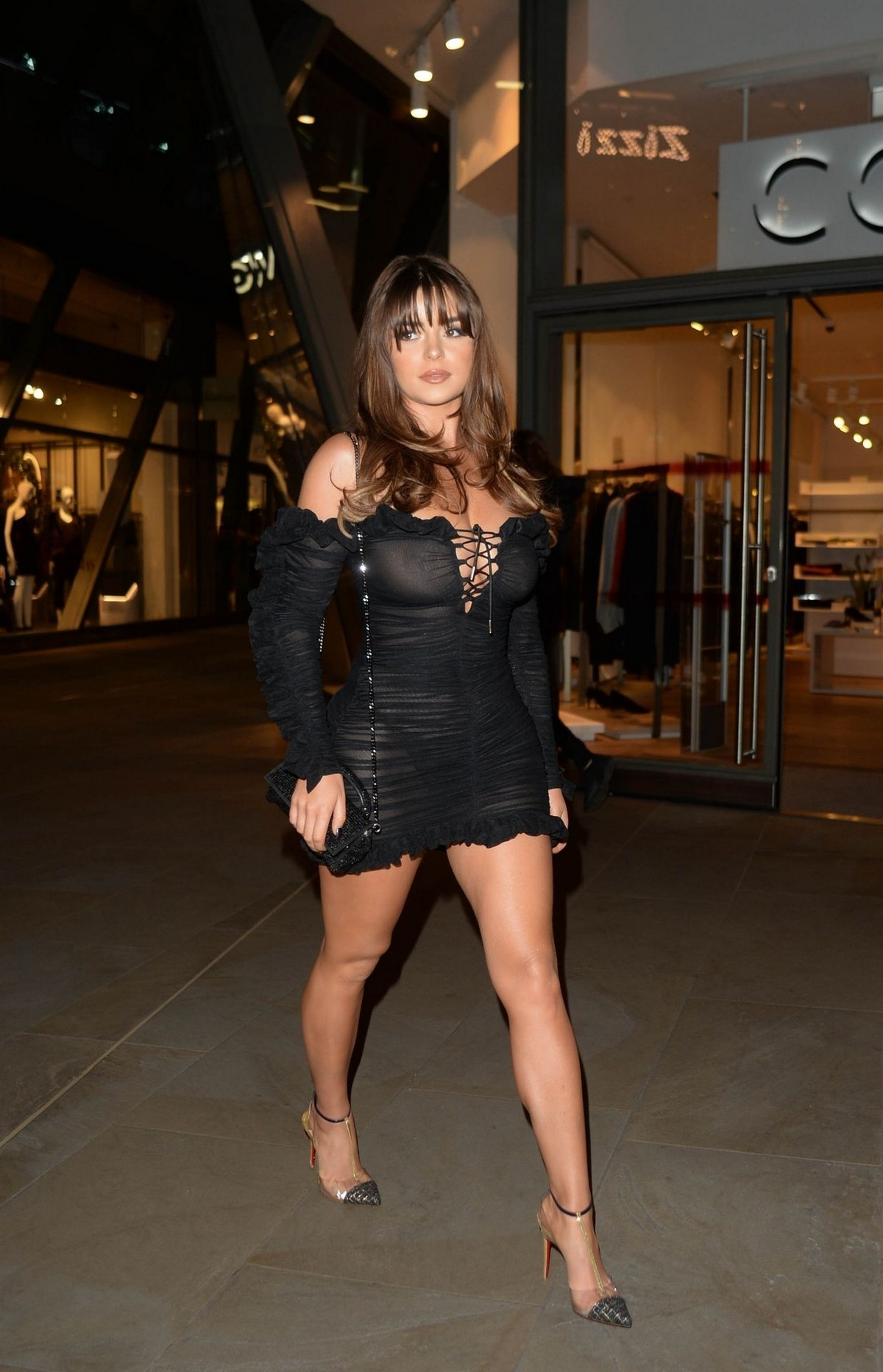 Demi Rose Mawby seen in Stylish Short Dress at The Skinny Tan Choc Range launch party in Madison, London 2019/11/19 6