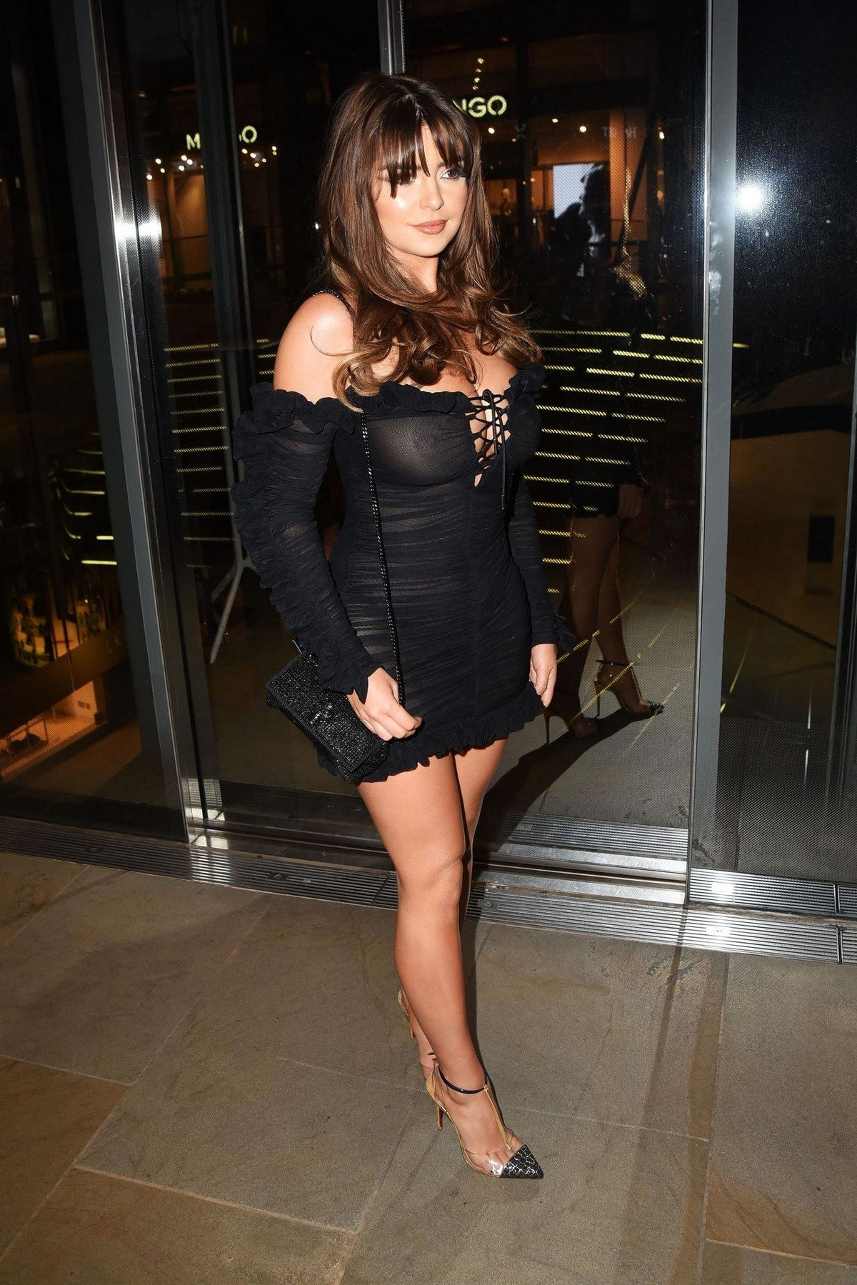 Demi Rose Mawby seen in Stylish Short Dress at The Skinny Tan Choc Range launch party in Madison, London 2019/11/19 9