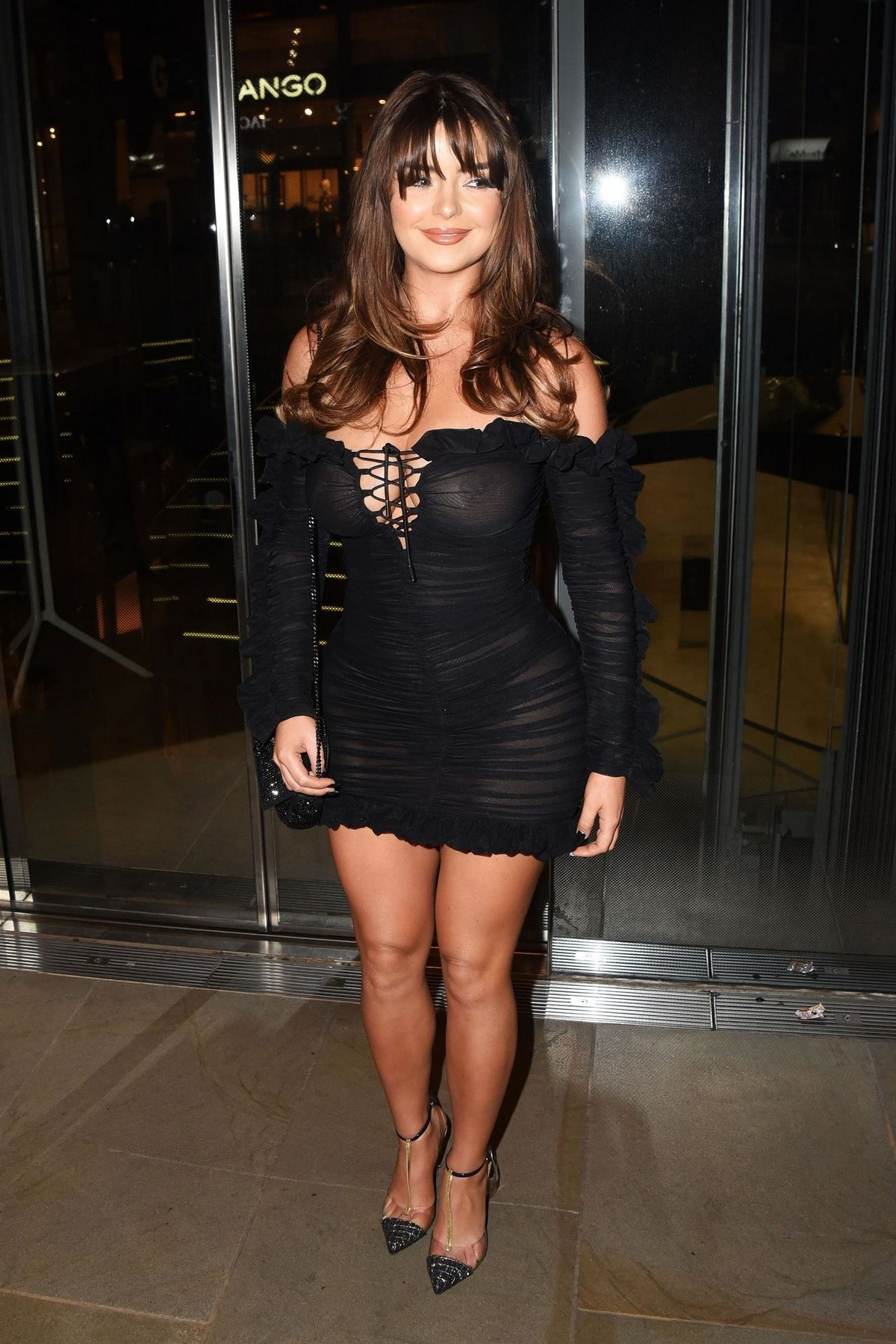 Demi Rose Mawby seen in Stylish Short Dress at The Skinny Tan Choc Range launch party in Madison, London 2019/11/19 10