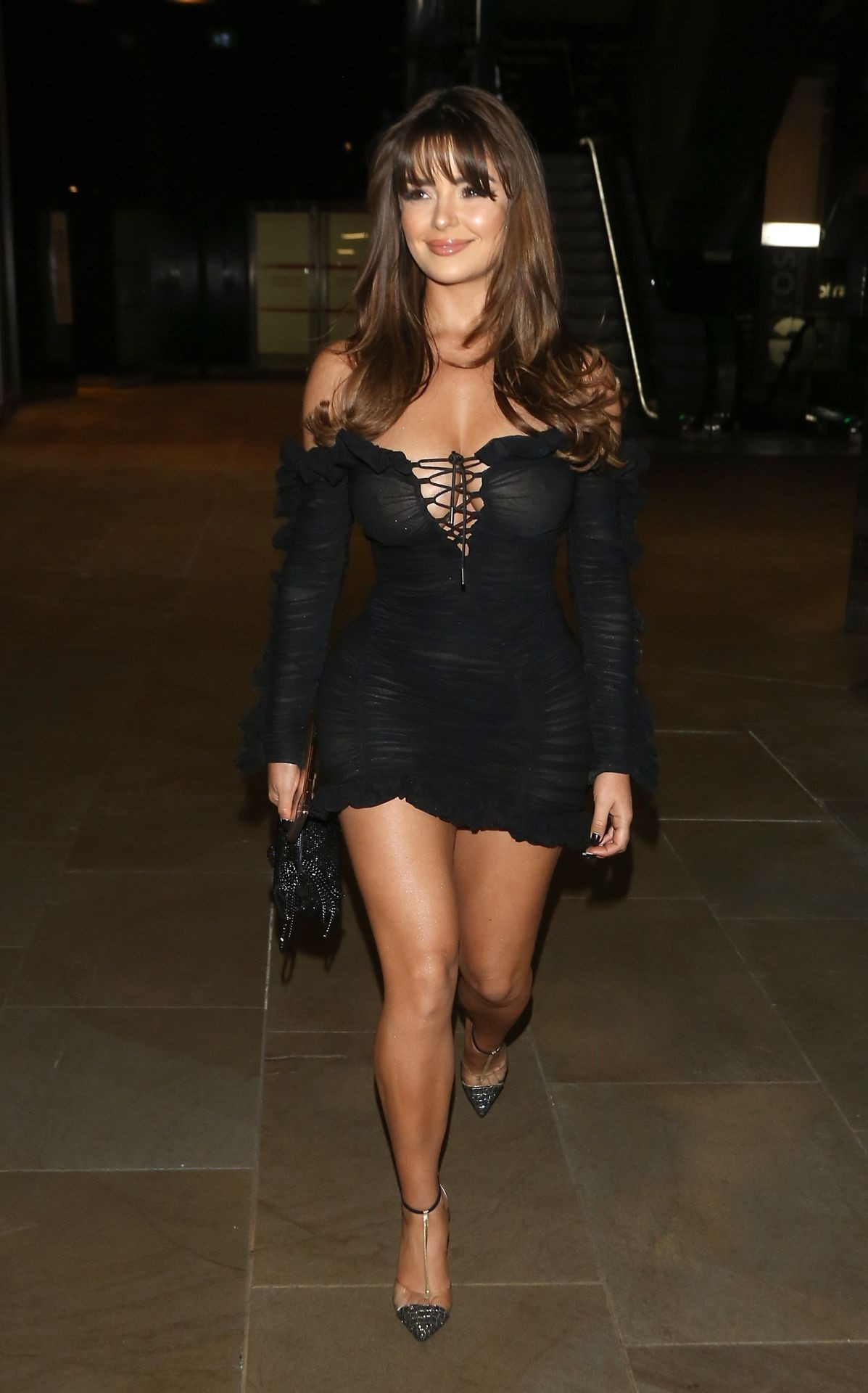 Demi Rose Mawby seen in Stylish Short Dress at The Skinny Tan Choc Range launch party in Madison, London 2019/11/19 15