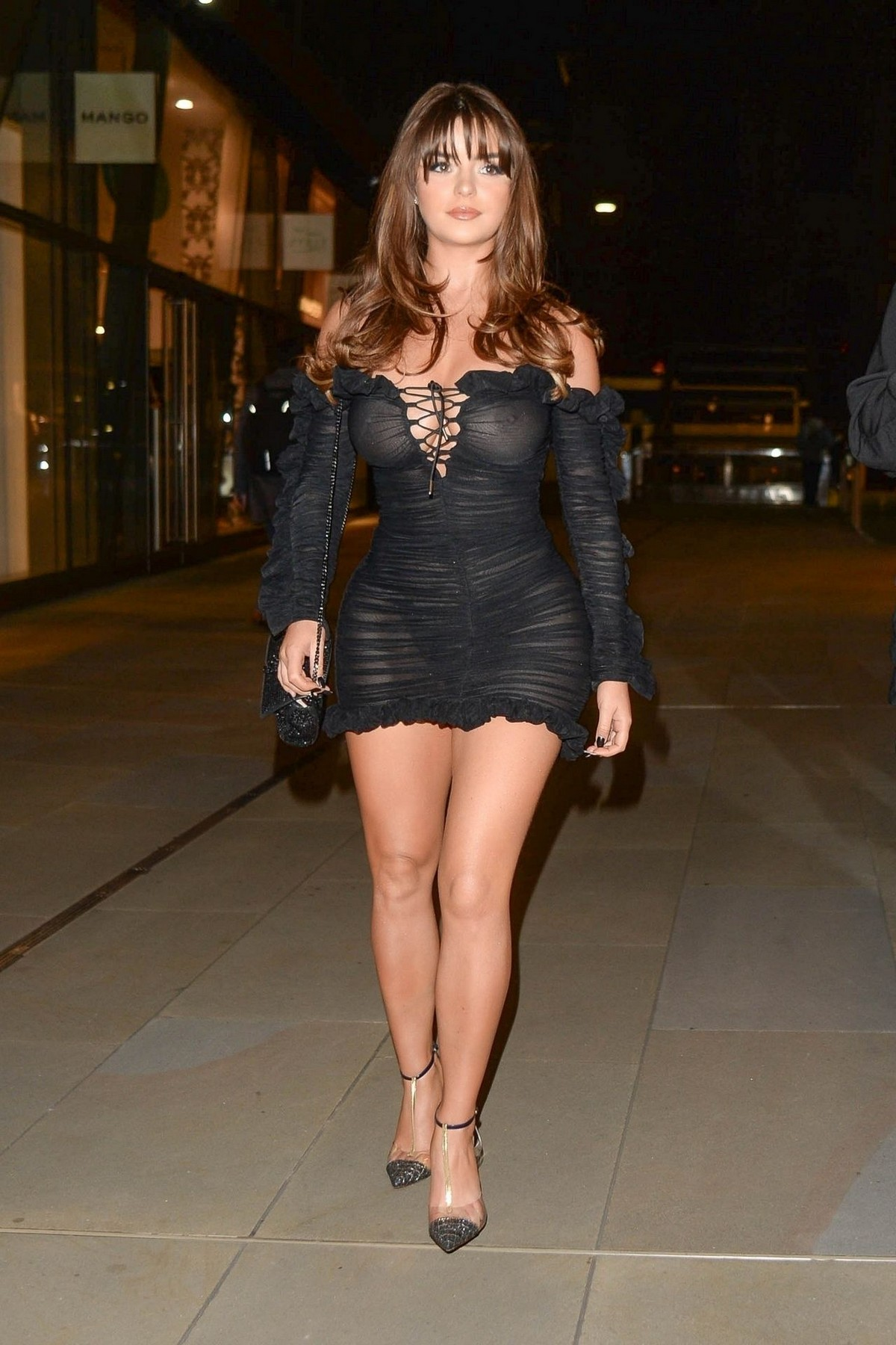 Demi Rose Mawby seen in Stylish Short Dress at The Skinny Tan Choc Range launch party in Madison, London 2019/11/19 19