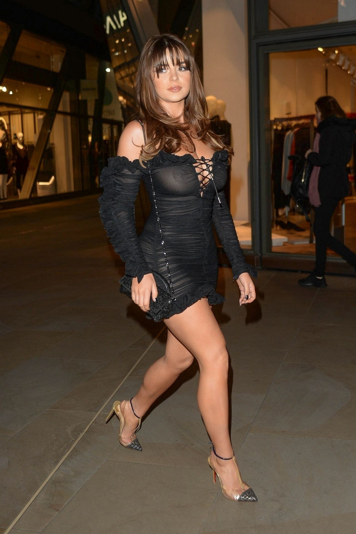 Demi Rose Mawby seen in Stylish Short Dress at The Skinny Tan Choc Range launch party in Madison, London 2019/11/19 20