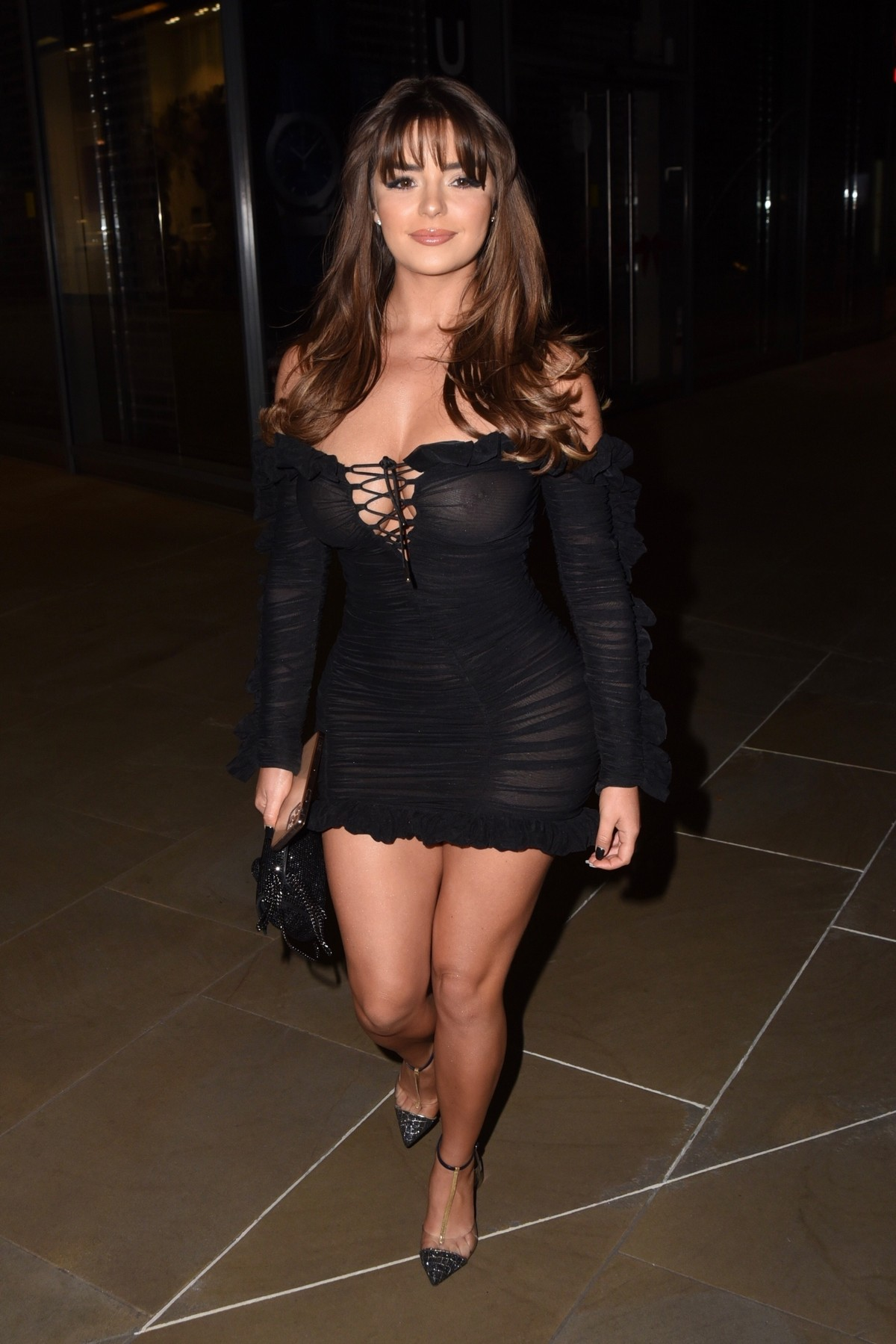 Demi Rose Mawby seen in Stylish Short Dress at The Skinny Tan Choc Range launch party in Madison, London 2019/11/19 23