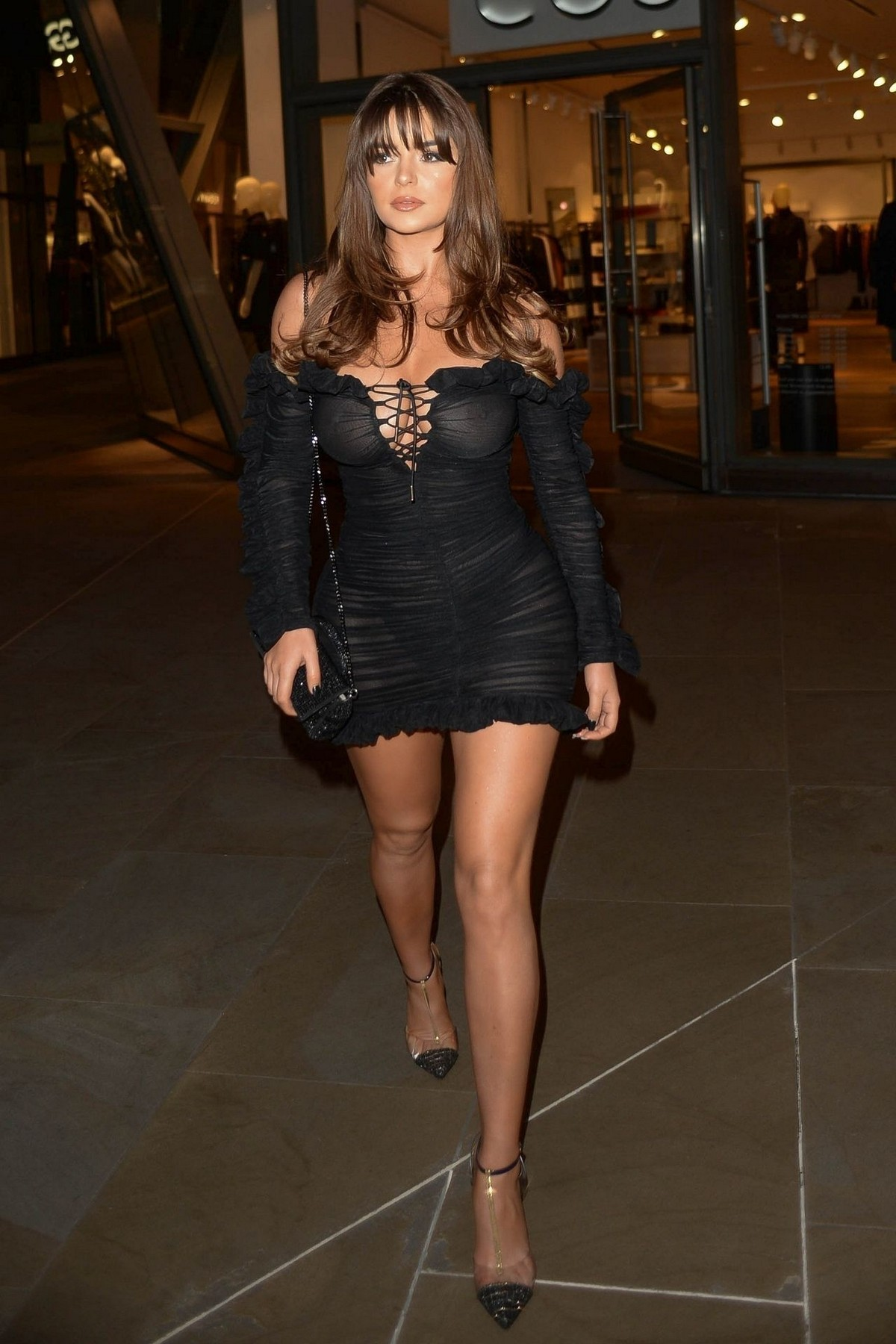 Demi Rose Mawby seen in Stylish Short Dress at The Skinny Tan Choc Range launch party in Madison, London 2019/11/19 24