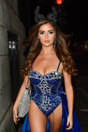Demi Rose Night out with friends in Mayfair London 2019/10/26 2