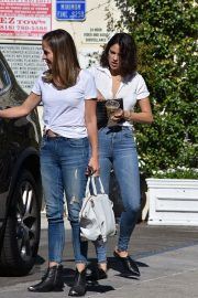 Eiza Gonzalez with friends in White Shirt and Blue Jeans Out in Studio City 2019/11/09 1