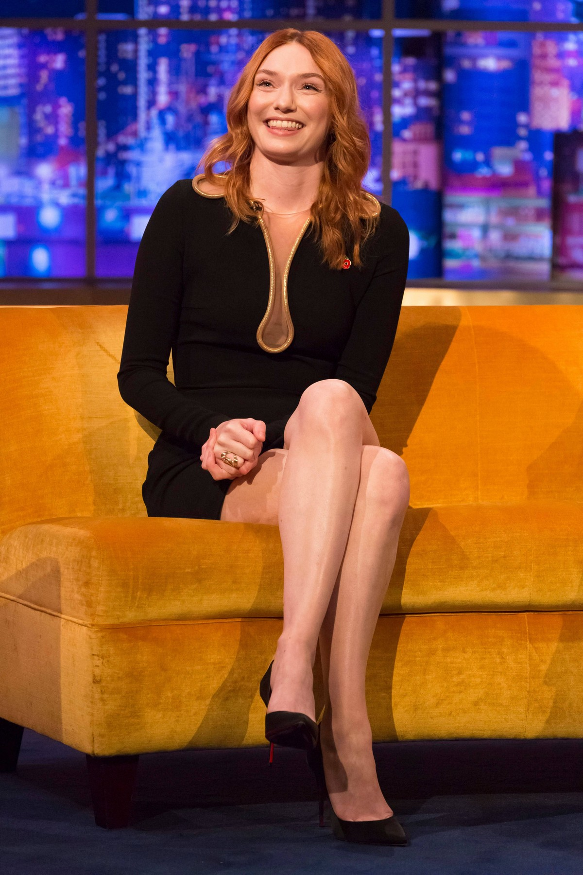 Eleanor Tomlinson arrives The Jonathan Ross Show in White City, London 2019/11/09 5