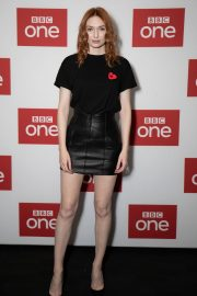 """Eleanor Tomlinson attends """"War Of The Worlds + Q&A"""" at BFI Southbank, London 2019/11/05 4"""