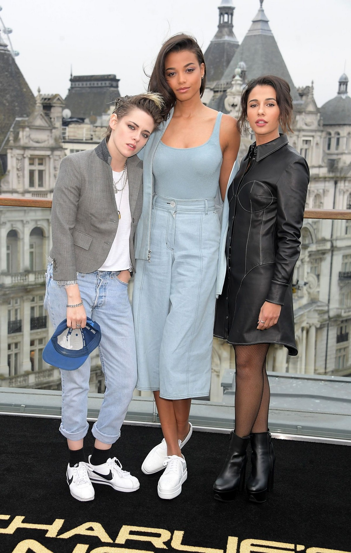 Ella Balinska, Kristen Stewart and Naomi Scott for Charlie's Angels at The Corinthia Hotel in London 2019/11/21 1