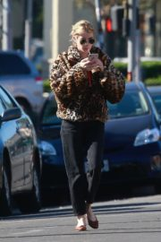 Emma Roberts in Animal Print Jacket with Black Denim out in Los Angeles 2019/11/24 8