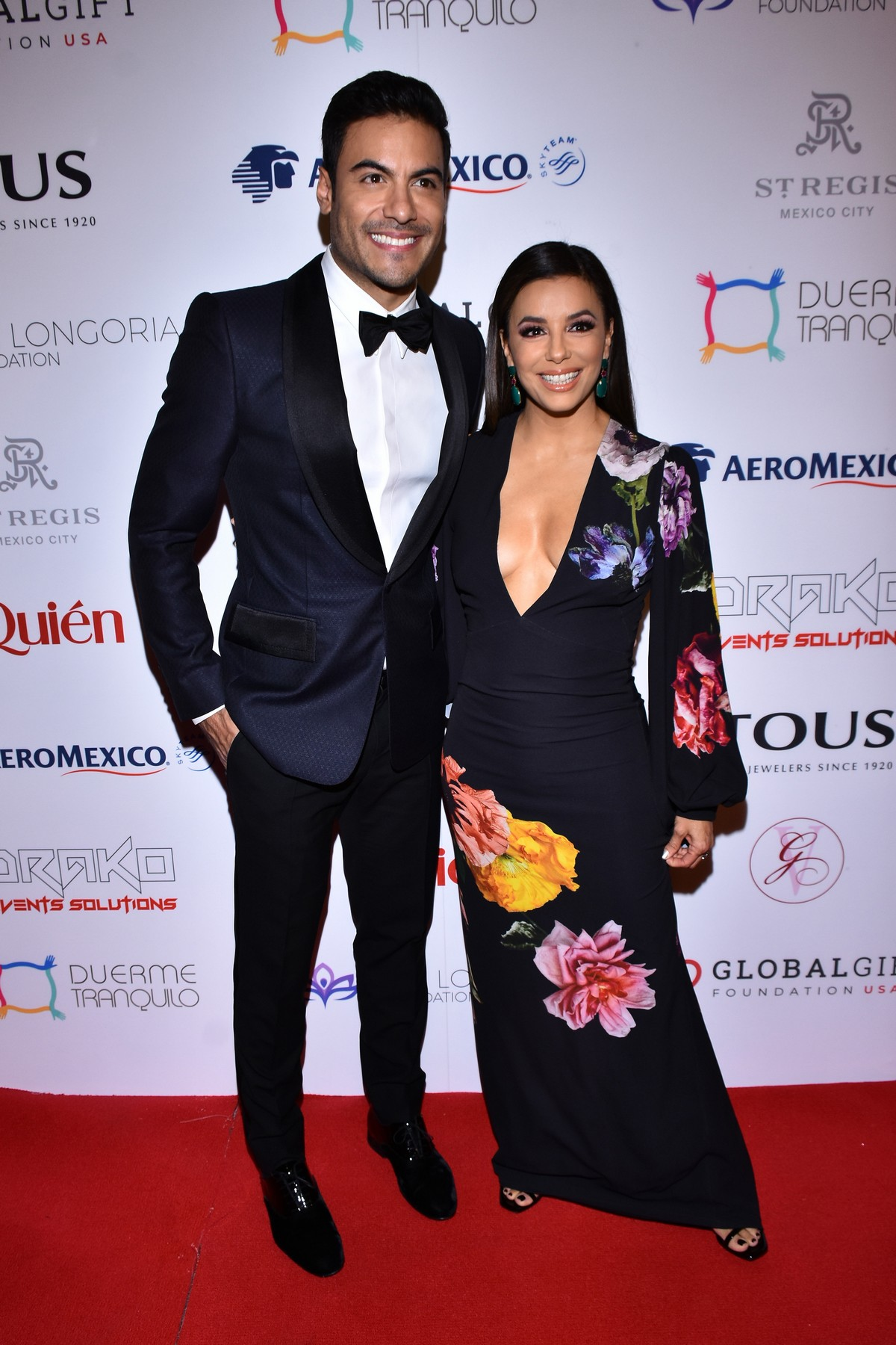 Eva Longoria and Carlos Rivera attends 5th Global Gift Foundation Gala in Mexico City 2019/11/19 2