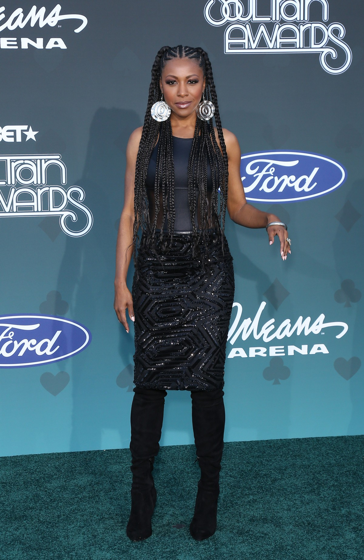 Gabrielle Dennis attends 2019 Soul Train Awards at Orleans Arena in Las Vegas 2019/11/17 2