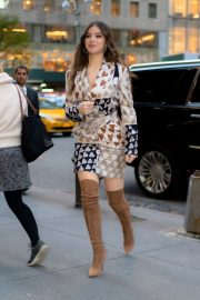 Hailee Steinfeld seen in brown long boots out in Midtown New York 2019/11/01 2