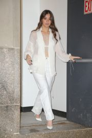 Hailee Steinfeld seen in gorgeous in a white outfit in New York 2019/10/31 2