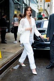 Hailee Steinfeld seen in gorgeous in a white outfit in New York 2019/10/31 12