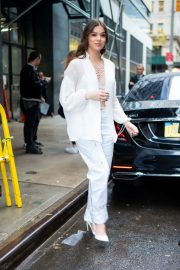 Hailee Steinfeld seen in gorgeous in a white outfit in New York 2019/10/31 13