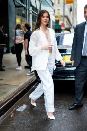 Hailee Steinfeld seen in gorgeous in a white outfit in New York 2019/10/31 14