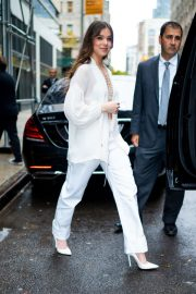 Hailee Steinfeld seen in gorgeous in a white outfit in New York 2019/10/31 16