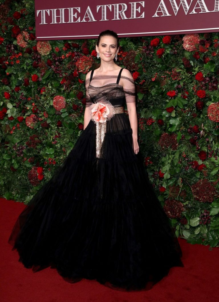Hayley Atwell arrives 65th Evening Standard Theatre Awards at the London Coliseum 2019/11/24 4
