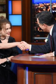 Helena Bonham Carter attends The Late Show with Stephen Colbert in Manhattan 2019/11/19 1