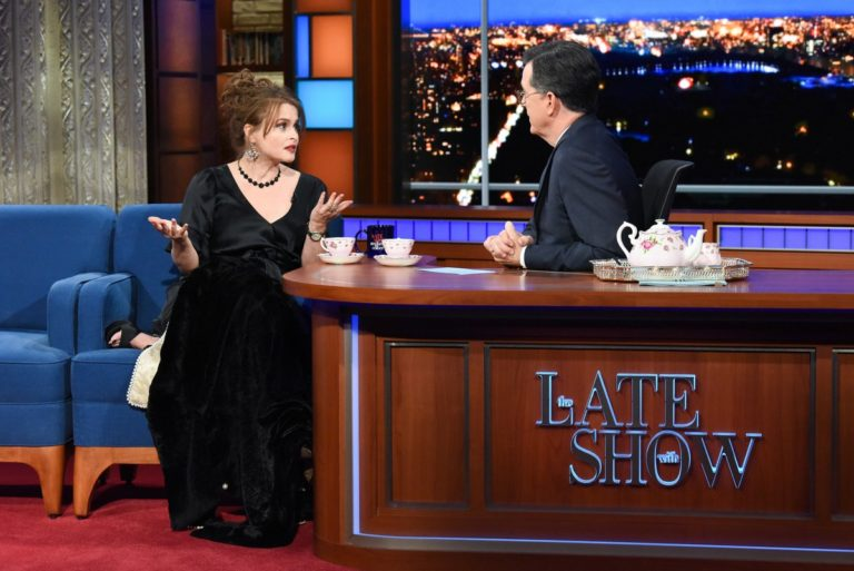 Helena Bonham Carter attends The Late Show with Stephen Colbert in Manhattan 2019/11/19 2