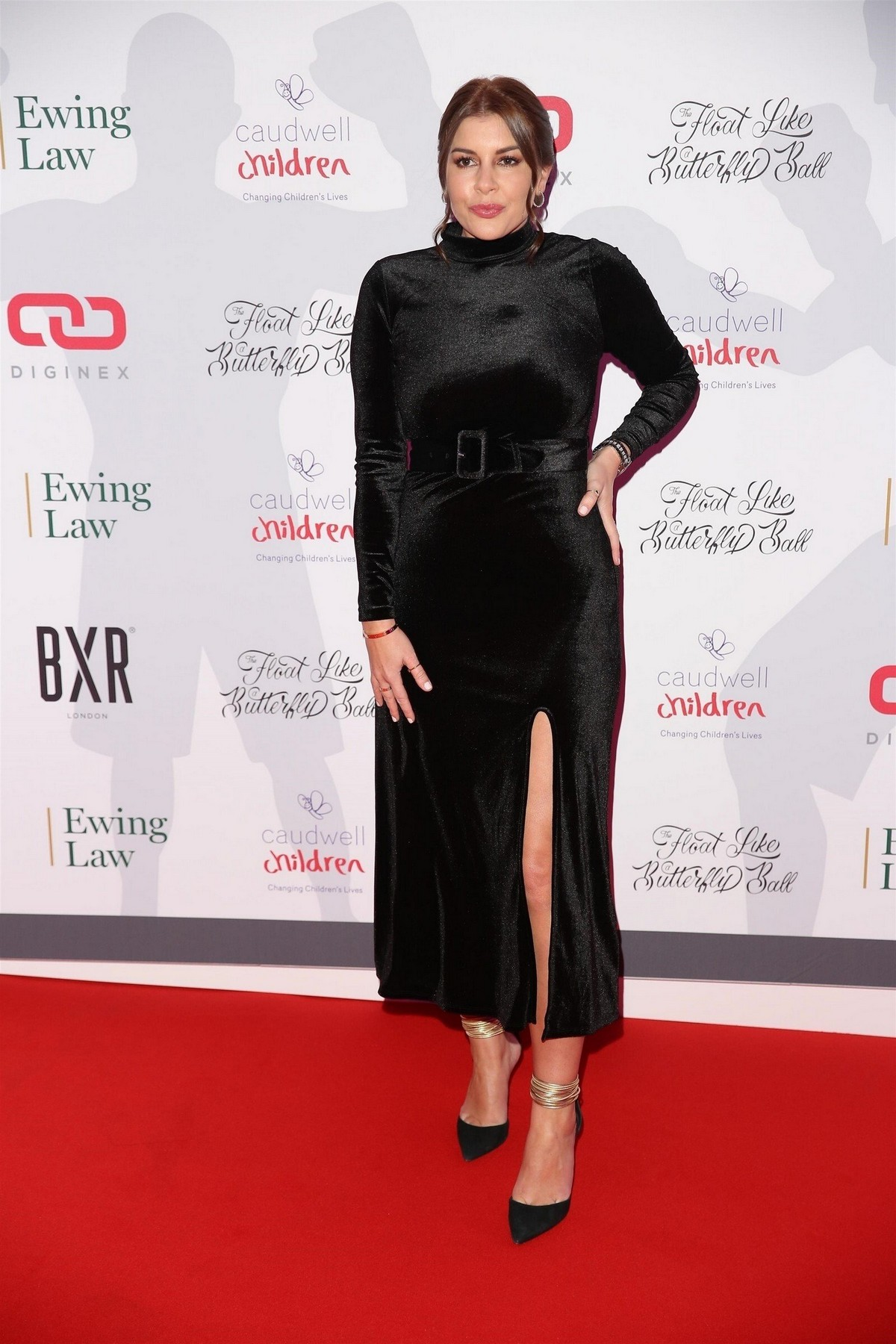 Imogen Thomas seen all in black at Float Like A Butterfly Ball in London 2019/11/16 4