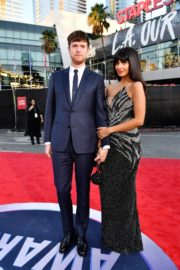 Jameela Jamil and James Blake attend 2019 American Music Awards at Microsoft Theater in Los Angeles 2019/11/24 1
