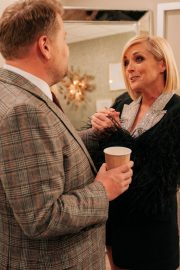 Jane Krakowski and Paul Feig attend The Late Late Show with James Corden in Los Angeles 2019/11/07 1