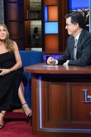 Jennifer Aniston attends The Late Show with Stephen Colbert in Manhattan 2019/10/29 2