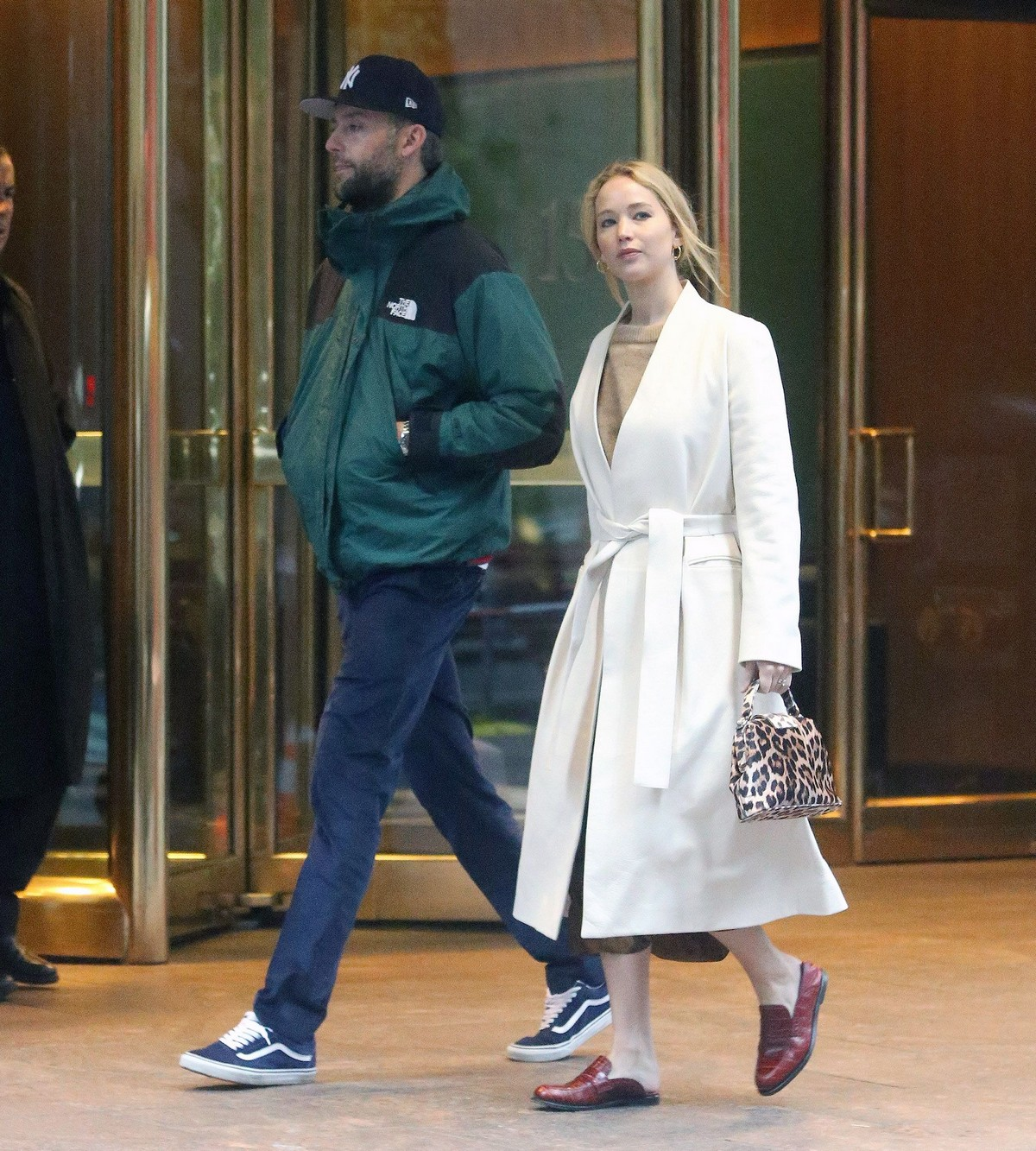 Jennifer Lawrence and Cooke Maroney leaves at MOMA to a restaurant in SOHO 2019/11/18 1