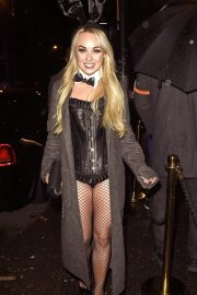 Jorgie Porter attends PLT Halloween Party 2019 at Whiskey Down in Manchester 2019/10/31 2