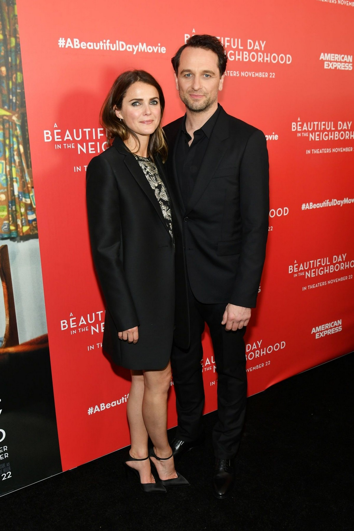"Keri Russell and Matthew Rhys arrive ""A Beautiful Day In The Neighborhood"" Screening at Brookfield Place2019/11/17 3"